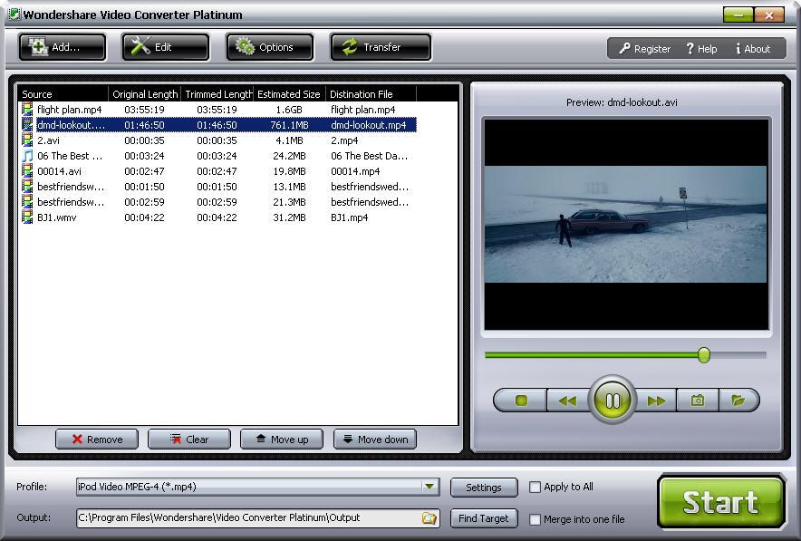 Wondershare Video Converter Platinum download free