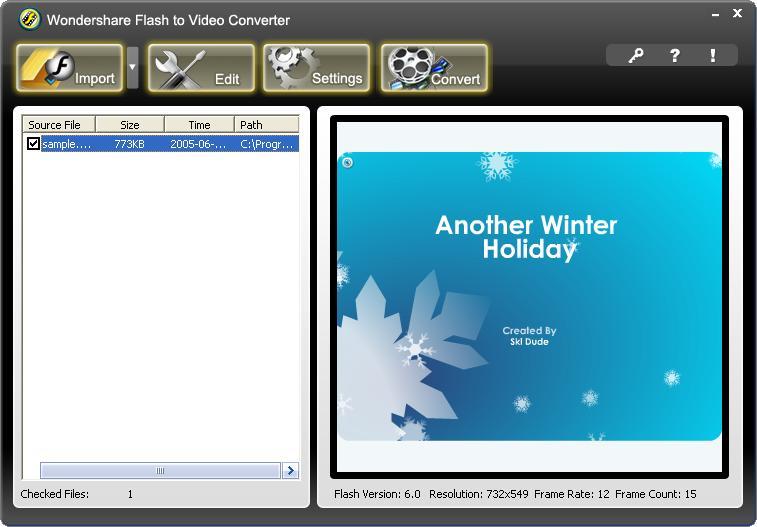 Wondershare Flash to Video Converter download free